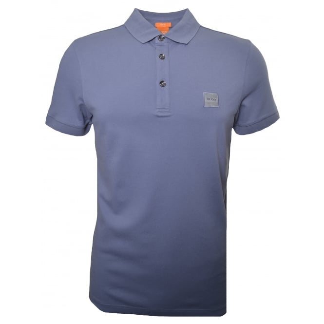 Hugo Boss Orange Men's Slim Fit Grey Pavlik Polo Shirt