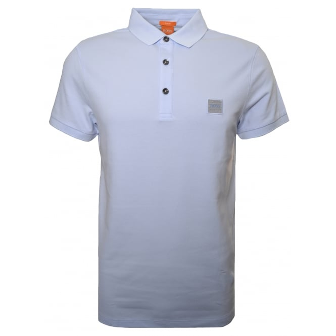 Hugo Boss Orange Men's Slim Fit Light Pastel Blue Pavlik Polo Shirt