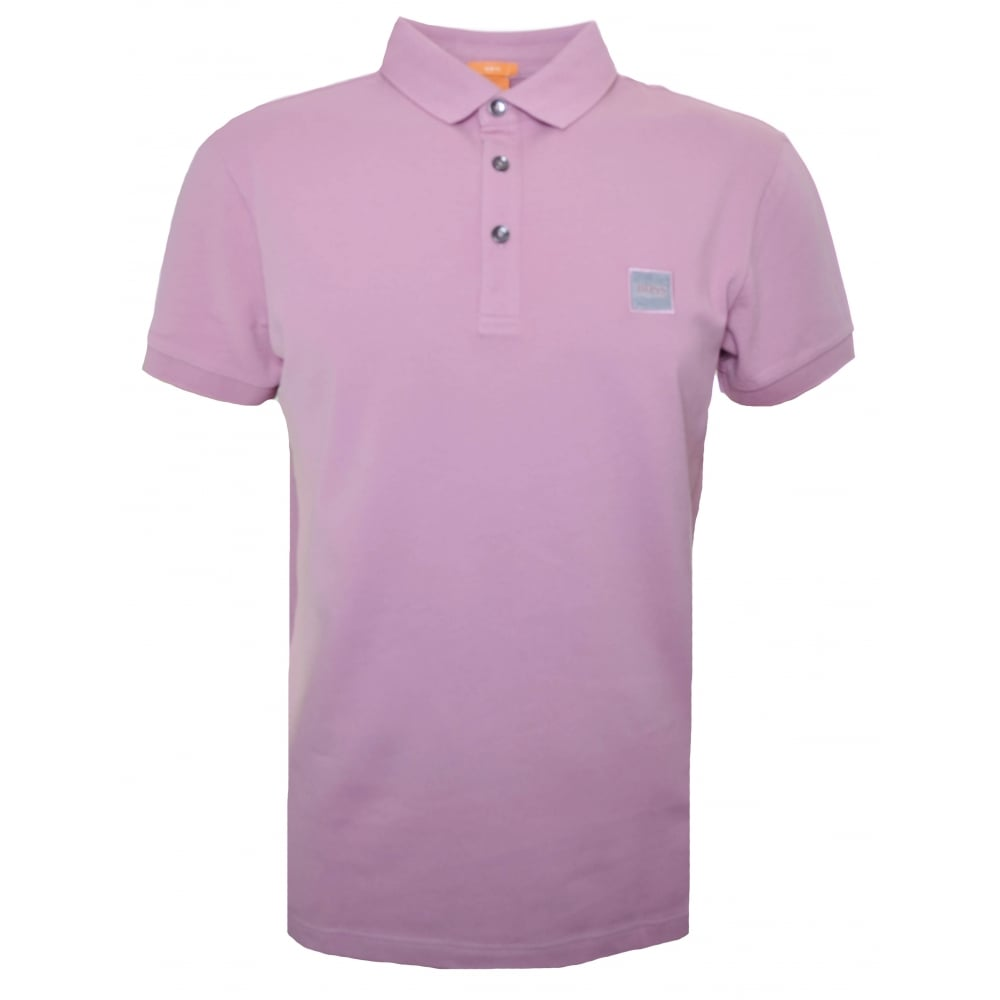 2dbbdd2db7a3 Hugo Boss Orange Men's Slim Fit Light/Pastel Pink Pavlik Polo