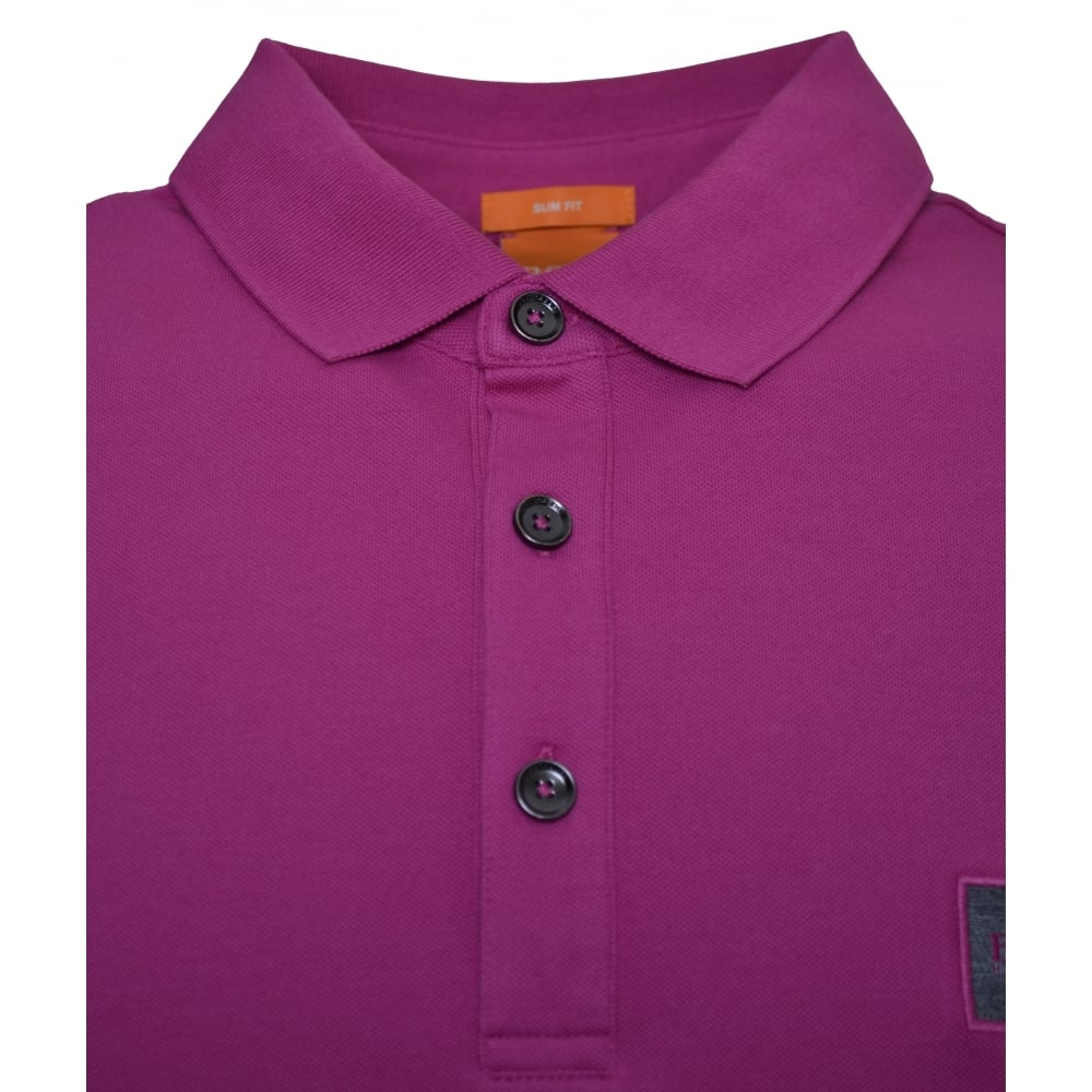Hugo Boss Orange Men's Slim Fit Medium Pink Pavlik Polo Shirt