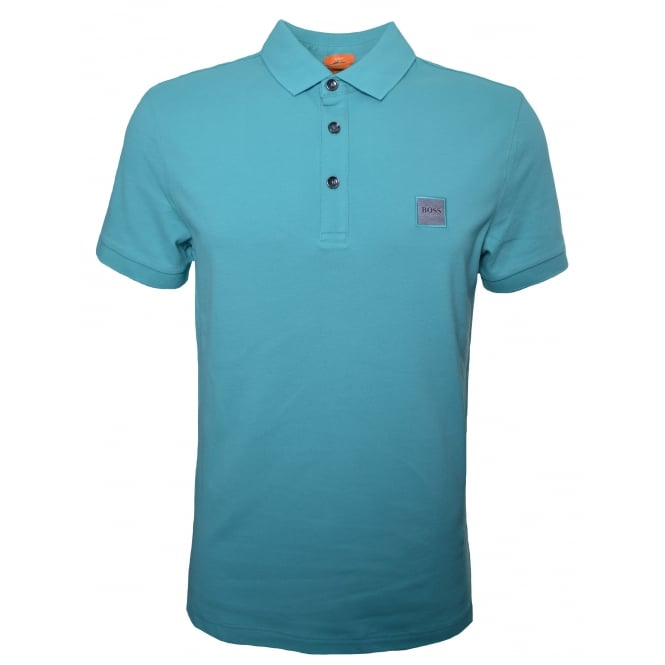 Hugo Boss Orange Men's Slim Fit Turquoise/Aqua Pavlik Polo Shirt