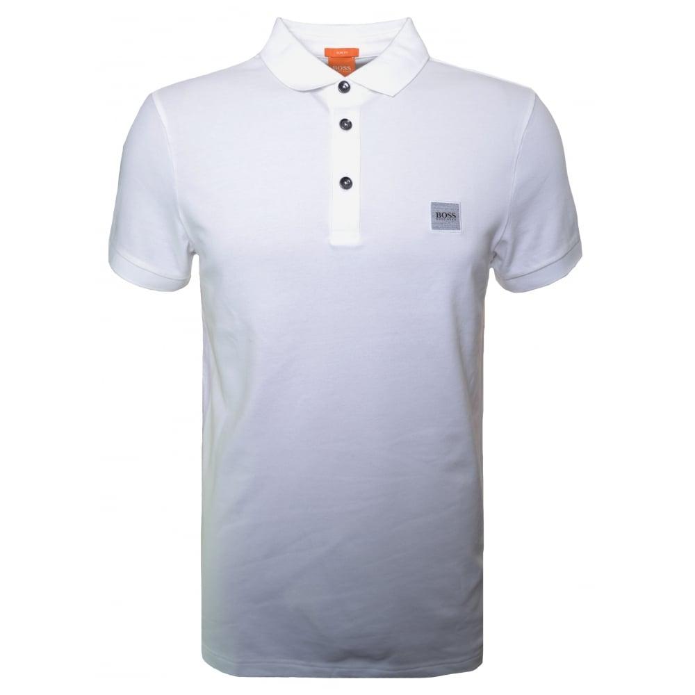 Hugo Boss Orange Mens White Pavlik Polo Shirt