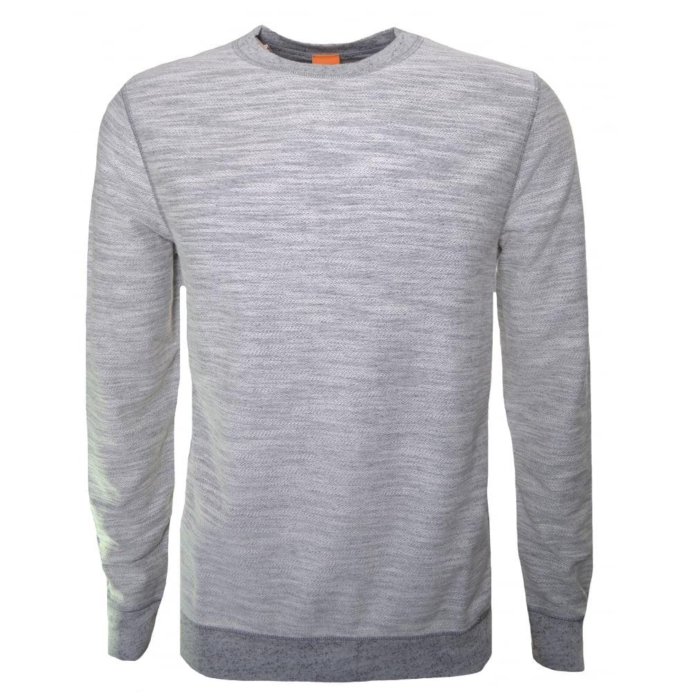 7ea95fbc1071 Hugo Boss Orange Men's Woice Grey Reversible Sweatshirt