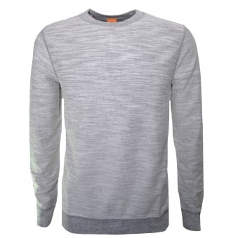 Hugo Boss Orange Men's Woice Grey Reversible Sweatshirt