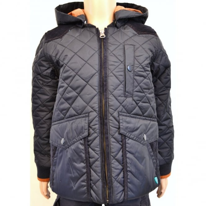 6da8cc55f292 infants timberland navy padded jacket with hood