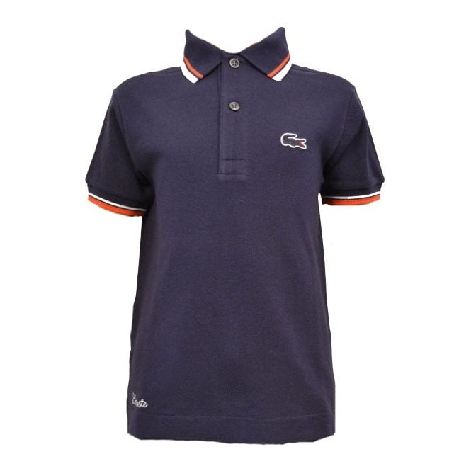 Lacoste Kids Navy Blue Polo T-Shirt