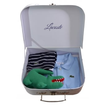 Lacoste Baby Boys Blue Polo And Shorts Gift Set
