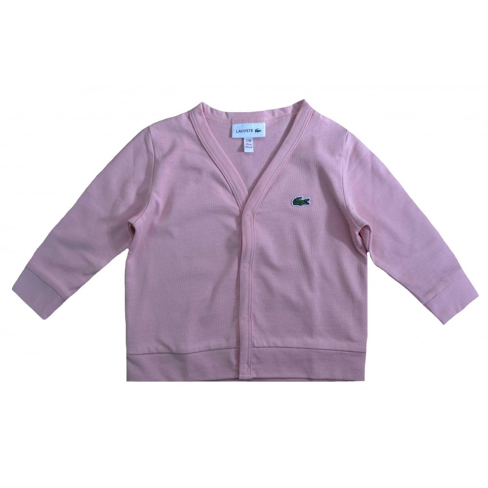 Gift Polo Set Cardigan Lacoste Pink And White Boys Girls mwv0nN8
