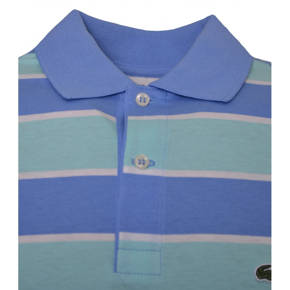 Lacoste Kids Blue And Green Polo Shirt 7c151d6358