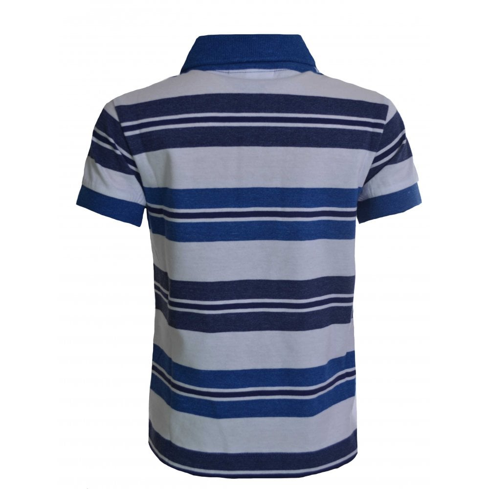 best sneakers 0d3be ea840 Lacoste Boys Lacoste Kids Blue And White Striped Polo Shirt