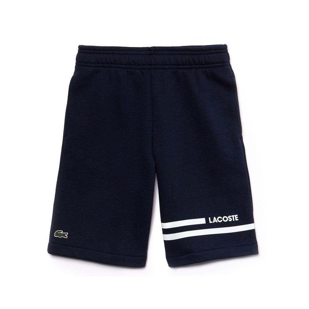 baefa33954dd2 Lacoste Kids Contrast Band Navy Fleece Shorts