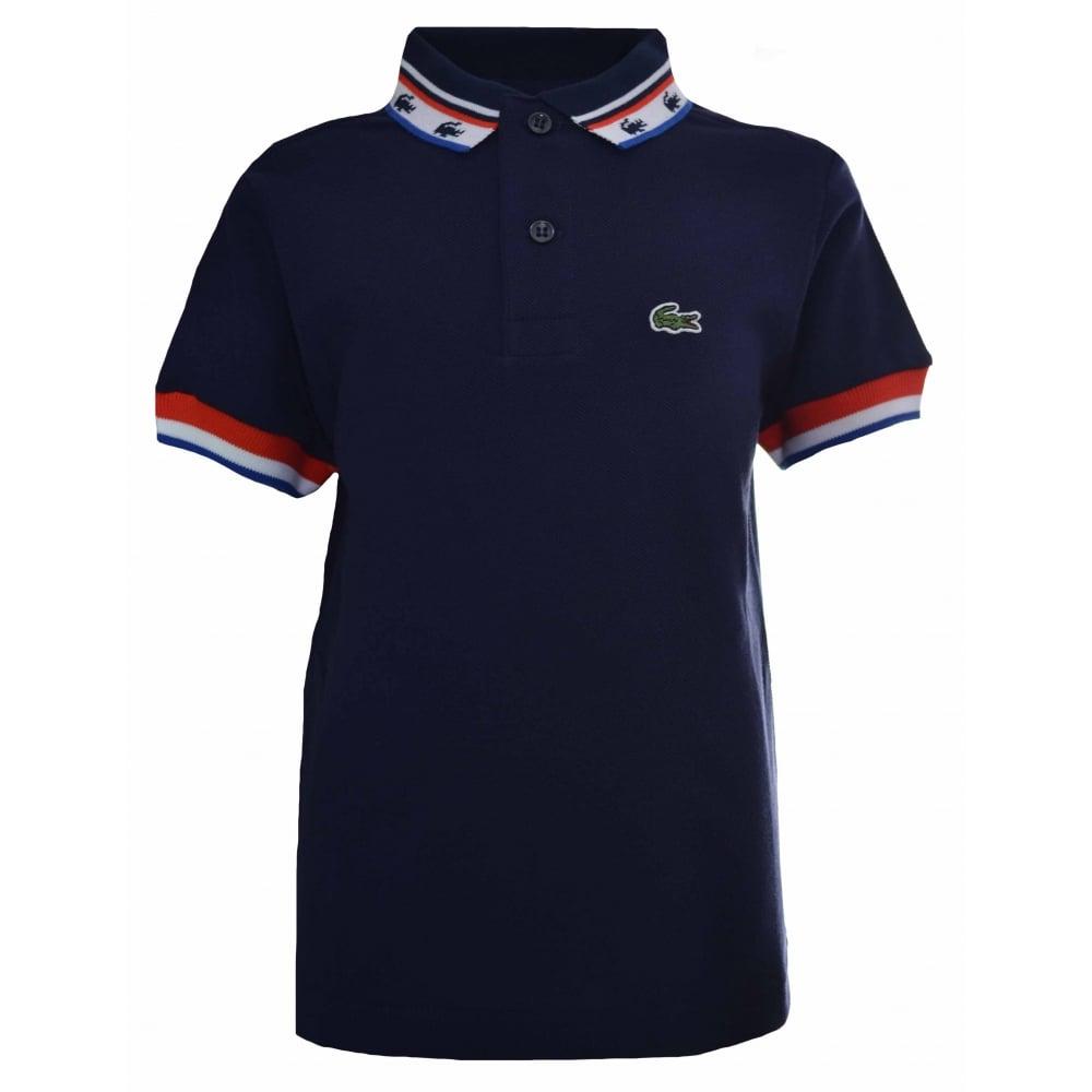 282d574075dfbd Lacoste Kids Navy Blue Polo Shirt