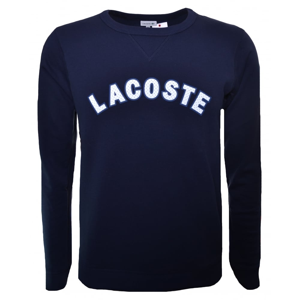 ab226f4367e558 lacoste kids navy blue sweatshirt
