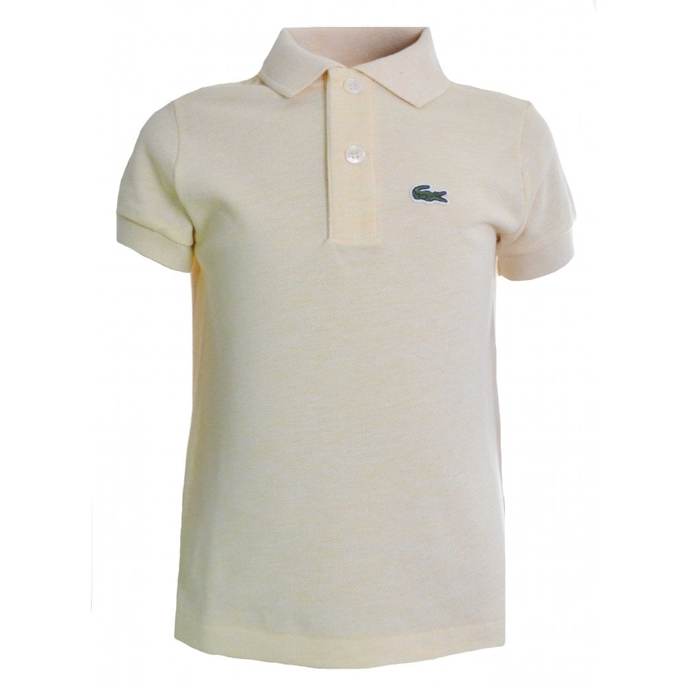 55095394 Lacoste Kids Yellow Polo Shirt