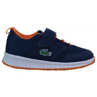 Lacoste Children's Navy Blue L.Ight 217 Trainers