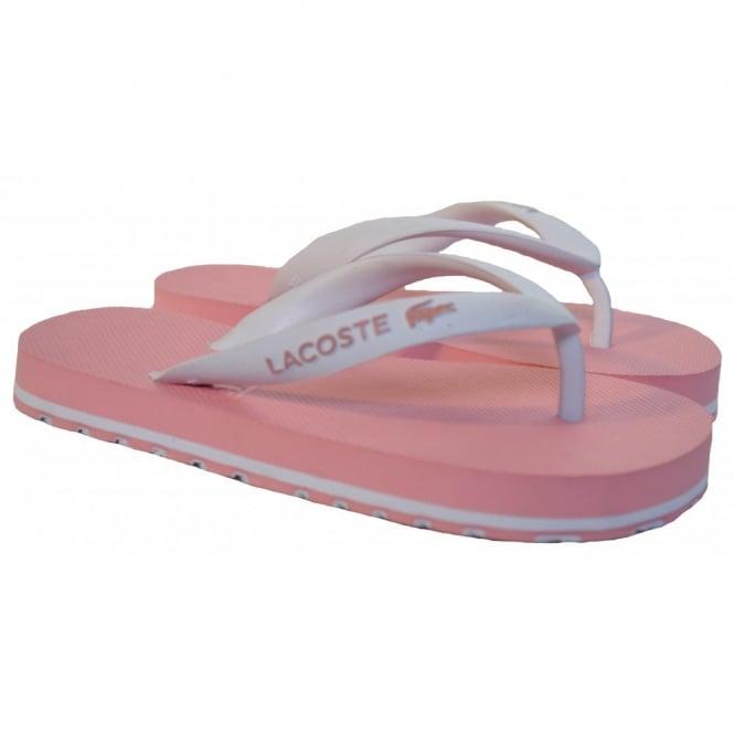 a4d7ffb7e85873 lacoste girls pink flip flops