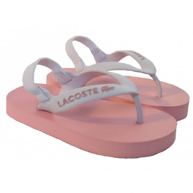 e2c5272934c3 Lacoste Girls Pink Nosara Flip Flops