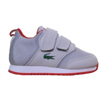 Lacoste Infants Grey L.Ight 177 Velcro Trainers