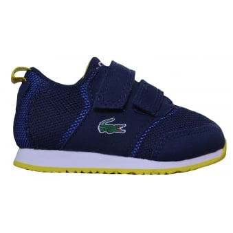 Lacoste Infants Navy Blue L.Ight 117 Velcro Trainers