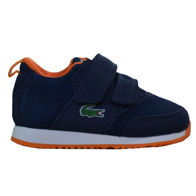 Lacoste footwear Lacoste Infants Navy Blue L.Ight 217 Velcro Trainers