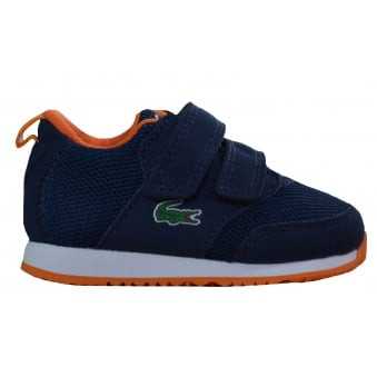Lacoste Infants Navy Blue L.Ight 217 Velcro Trainers