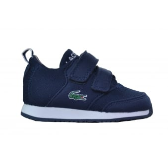 Lacoste Infants Navy Blue L.Ight Velcro Trainers
