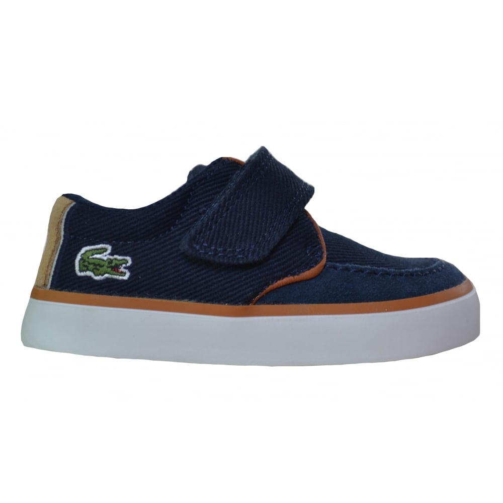1879b19e924481 Lacoste footwear Lacoste Infants Navy Blue Sevrin Shoes