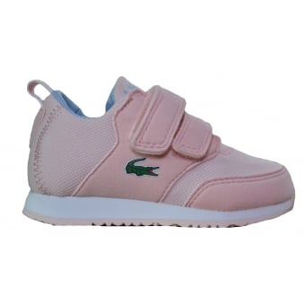 Lacoste Infants Pink L.Ight Velcro Trainers
