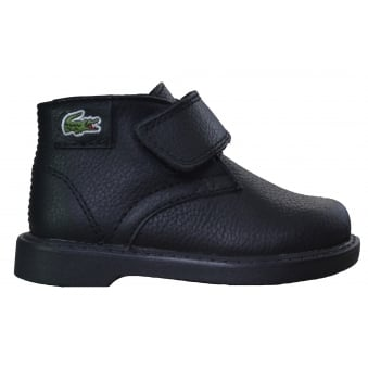 Lacoste Infants Sherbrooke Black Mid Top Boots