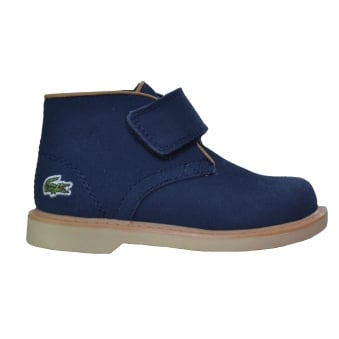 Lacoste Infants Sherbrooke Suede Navy Blue Mid Top Boots