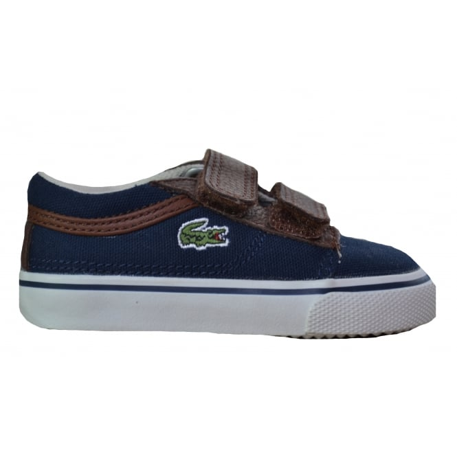 Lacoste footwear Lacoste Infants Vaultstar Dark Blue Trainers