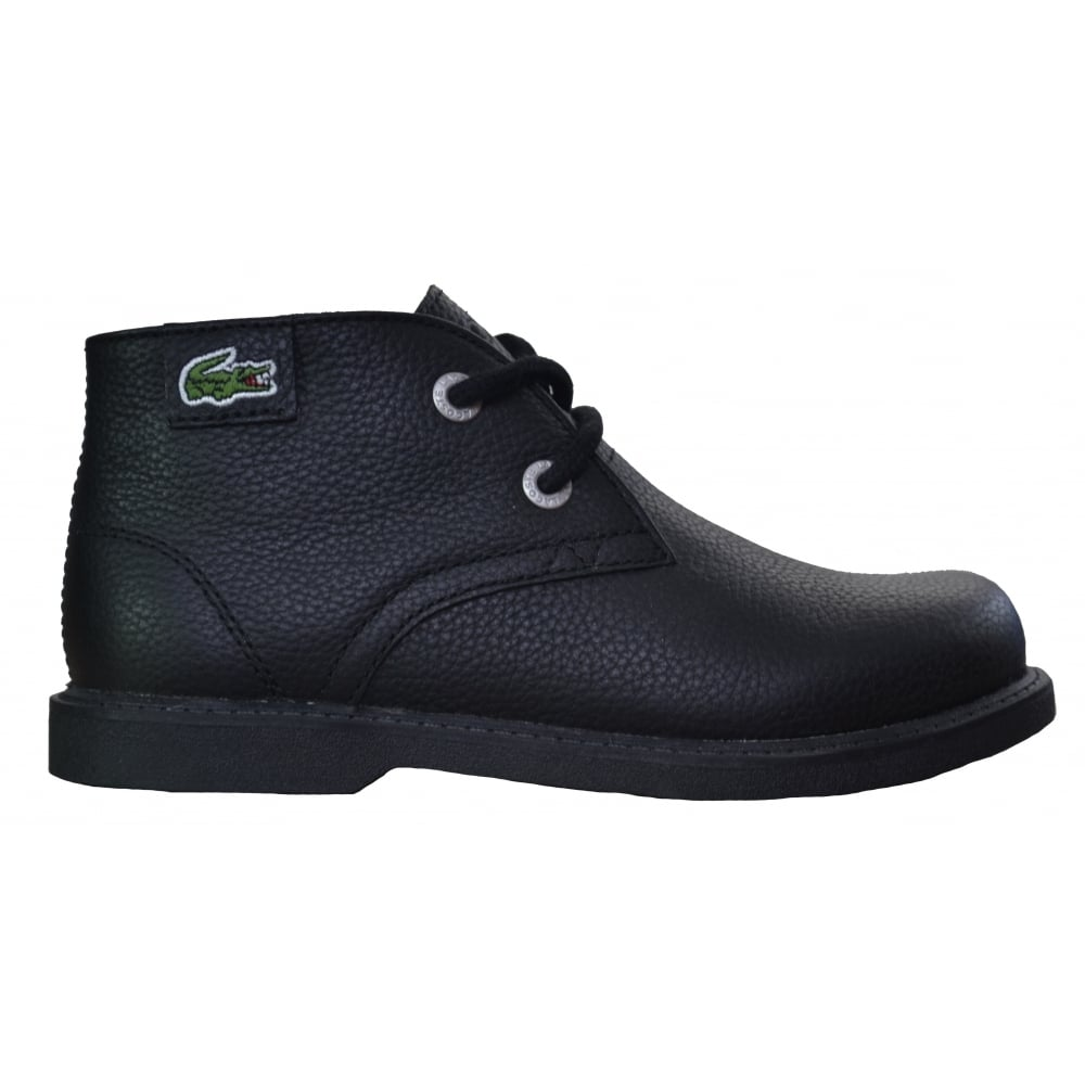 5b80aad91 lacoste kids black sherbrook mid top boots