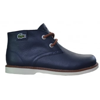 Lacoste Kids Navy Blue Sherbrooke Mid Top Boots