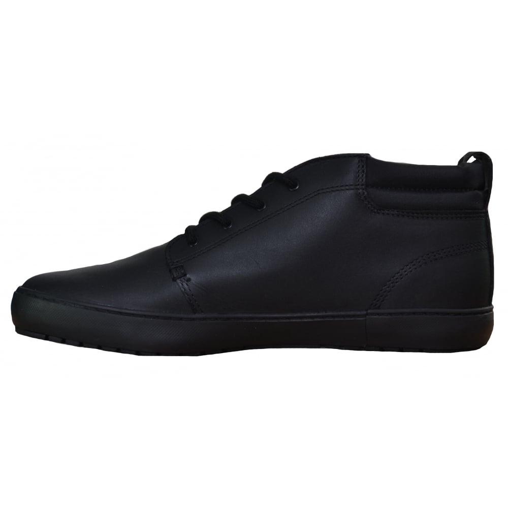 f4ddc15c506cd Lacoste Mens Black Ampthill Terra Boot