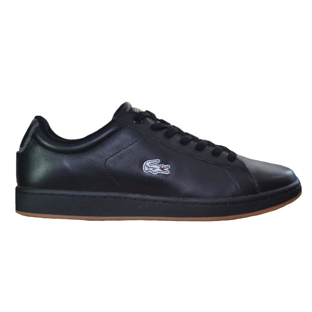 lacoste men s carnaby evo black trainers 63c2c01bf