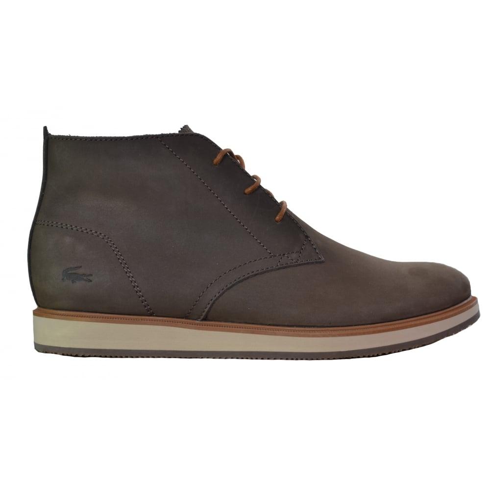 lacoste men's millard brown chukka boots