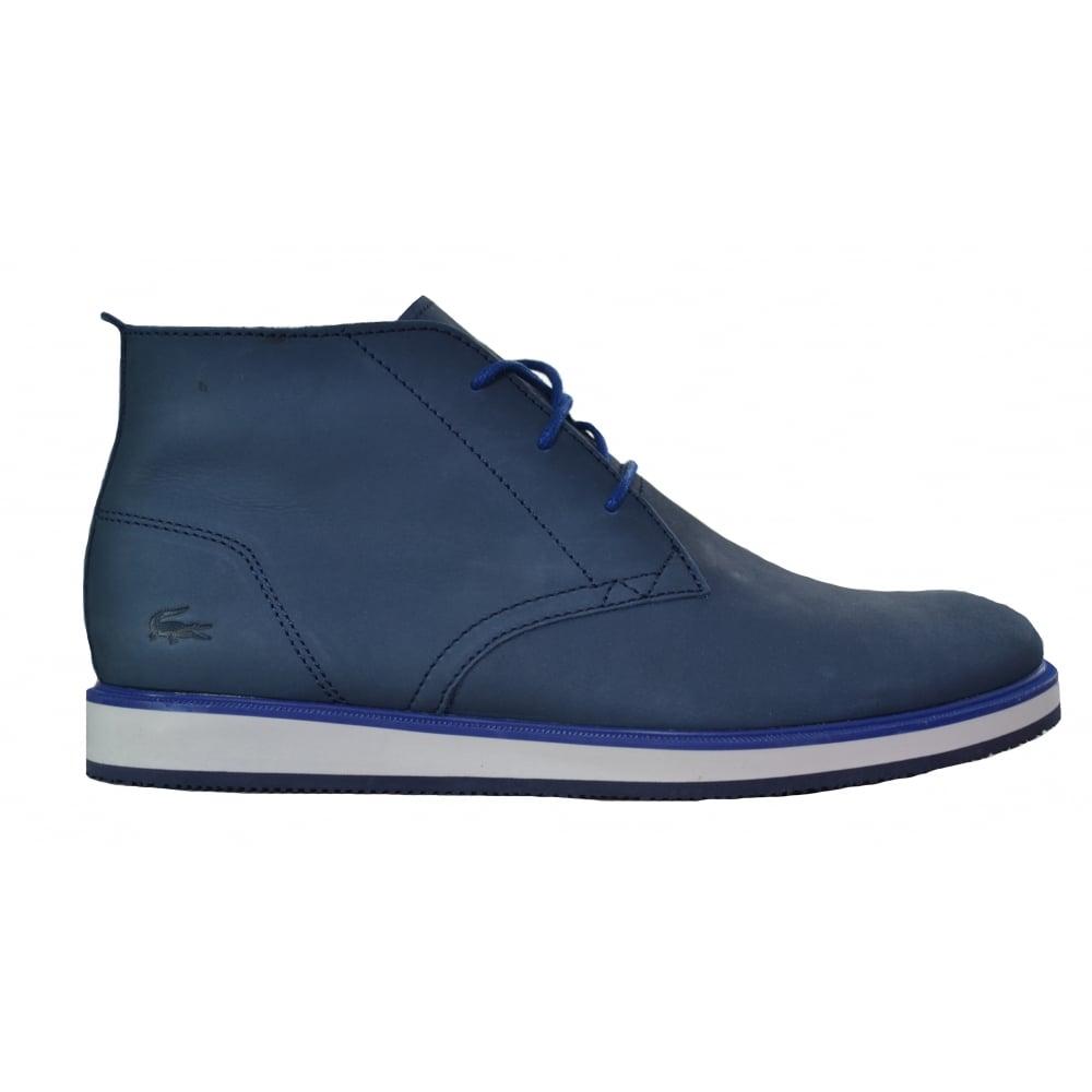lacoste men's millard navy blue chukka boots