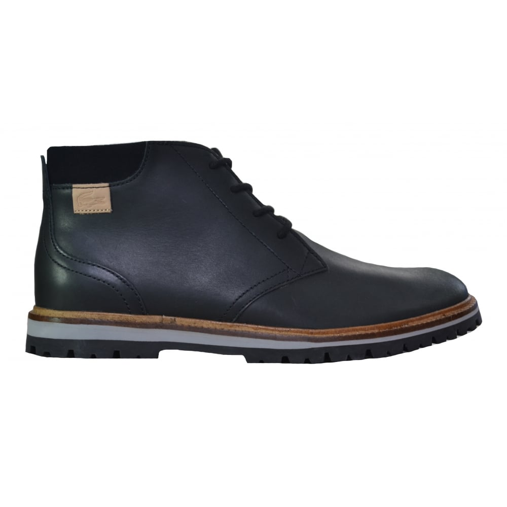 edfd62eb6 Lacoste Men  039 s Montbard Black Chukka Boots