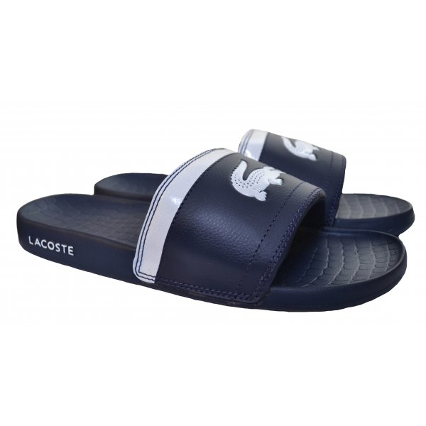84d998813 Lacoste Men  039 s Navy Blue Flip Flops