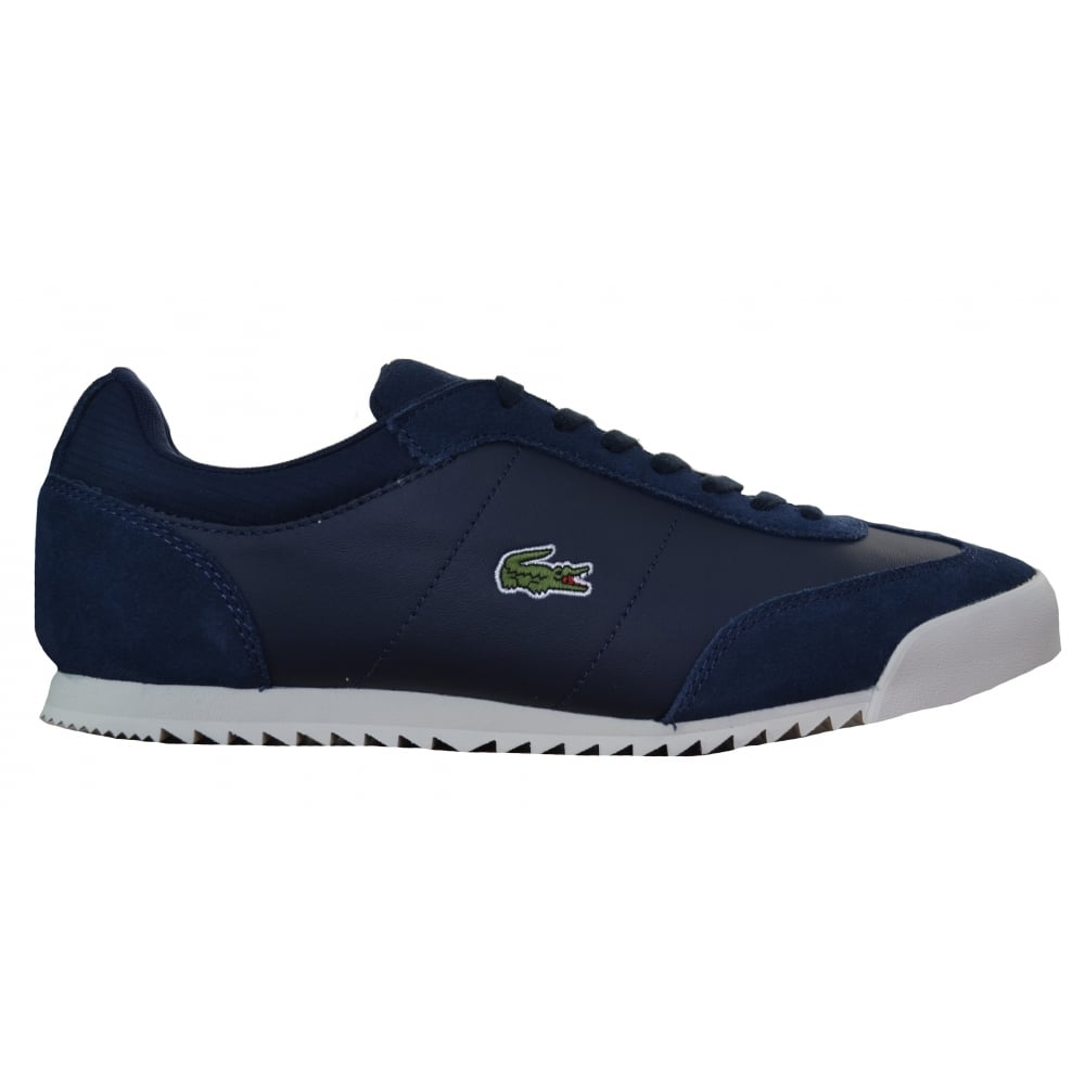 cd6791aac93fa1 lacoste men s navy blue romeau trainers
