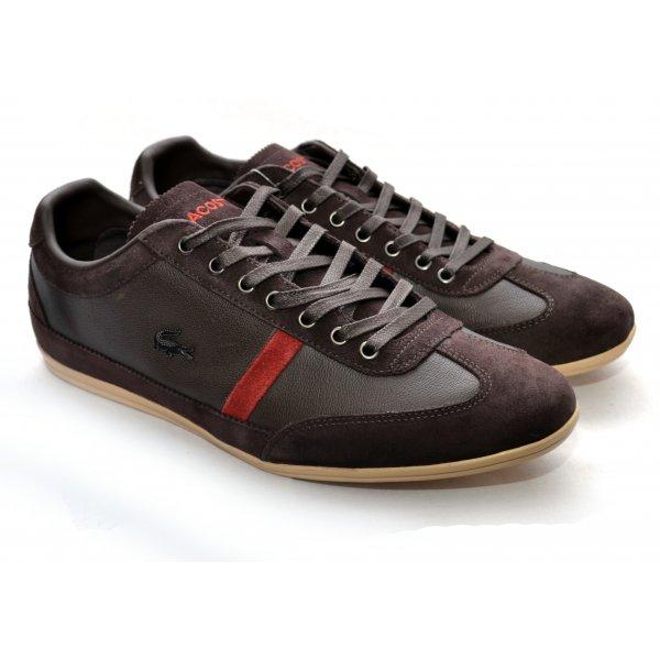 cfa30cf5cf82 men s lacoste misano 22 srm dark brown trainers