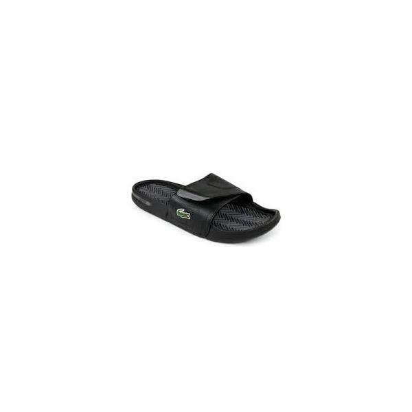 ad8a11cdd Men  039 s Lacoste Molitor Black Flip Flops