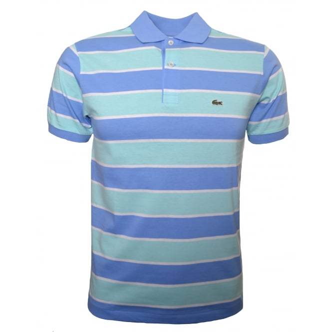 Lacoste Kids Blue And Green Polo Shirt