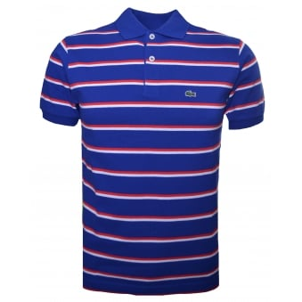 Lacoste Kids Blue And Red Polo Shirt