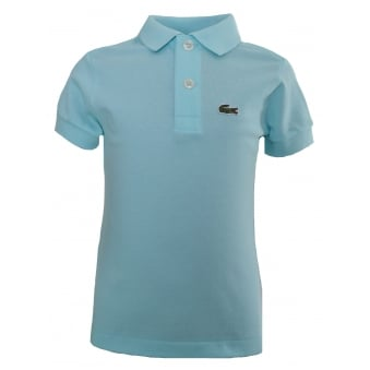 Lacoste Kids Blue/Green Polo Shirt