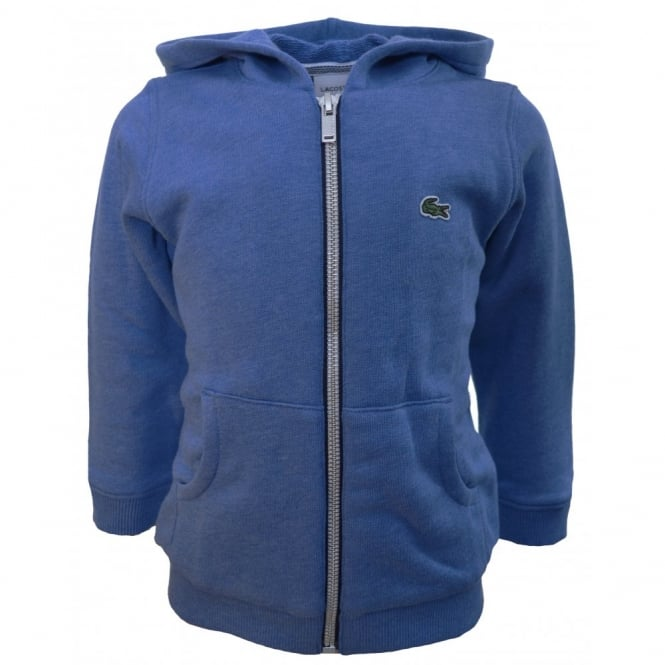 Lacoste Kids Blue Hooded Sweatshirt