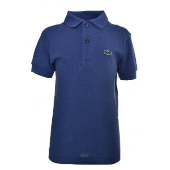 Lacoste Kids Blue Short Sleeve Polo Shirt