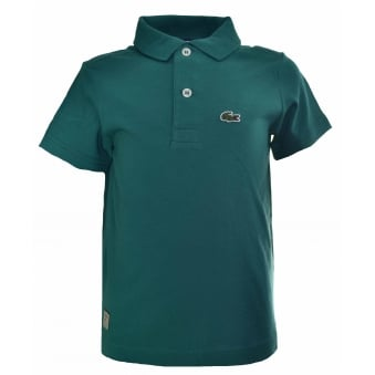 Lacoste Kids Green Polo Shirt