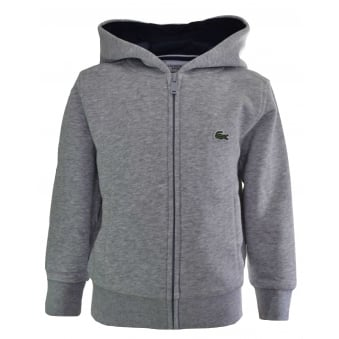 Lacoste Kids Grey Hooded Sweatshirt