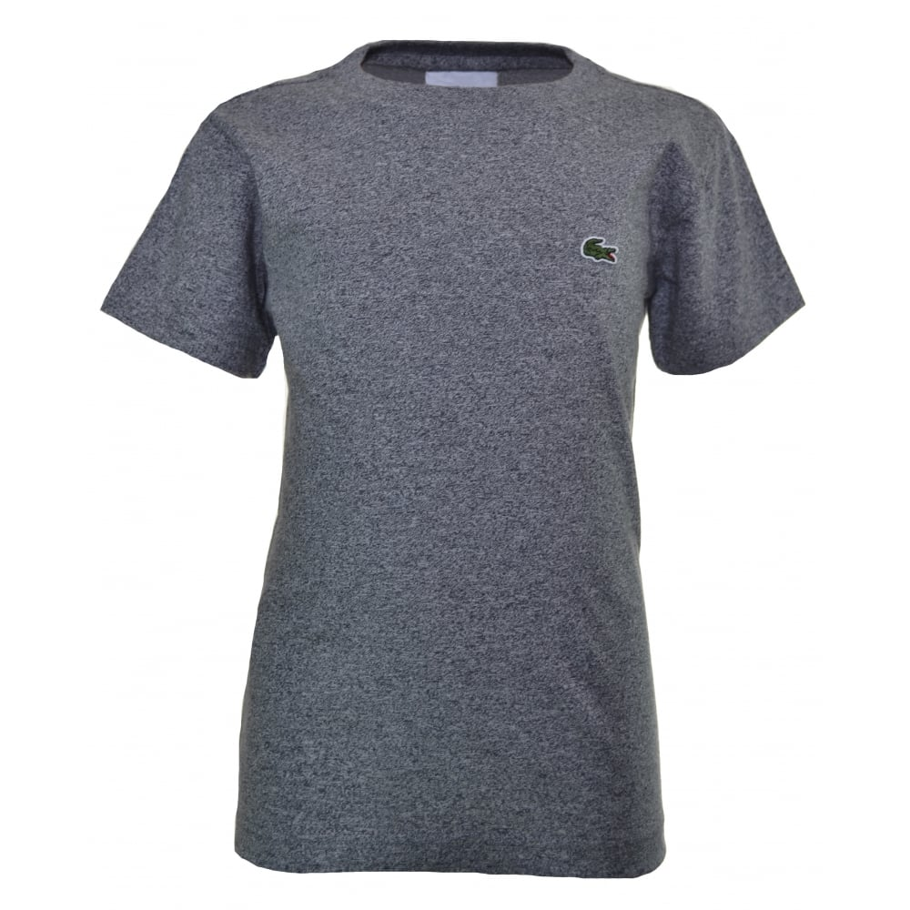 60f9e58ba86 lacoste kids grey marl short sleeve crew neck t-shirt